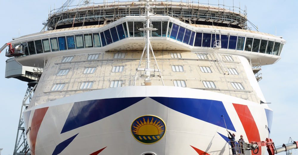 Britannia rules the waves...P&O Cruises new ship